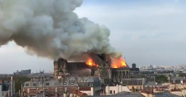 Major Fire Breaks Out in Notre Dame Cathedral