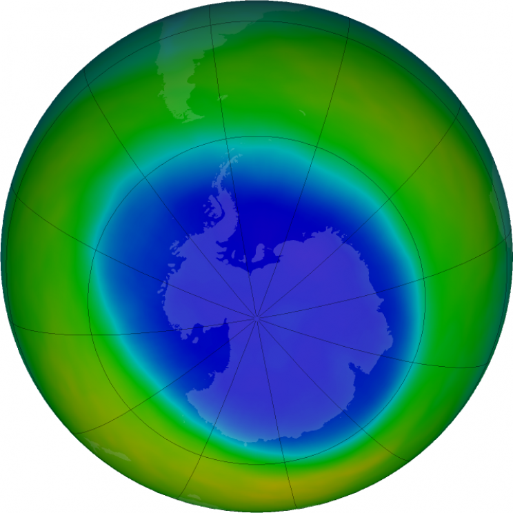 ozone hole september 2018