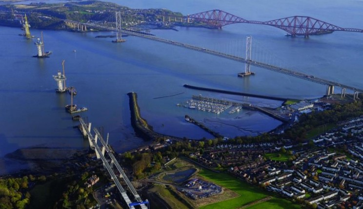 Queensferry Crossing construction phase