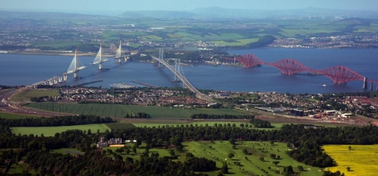 The three bridges across the Firth of Forth
