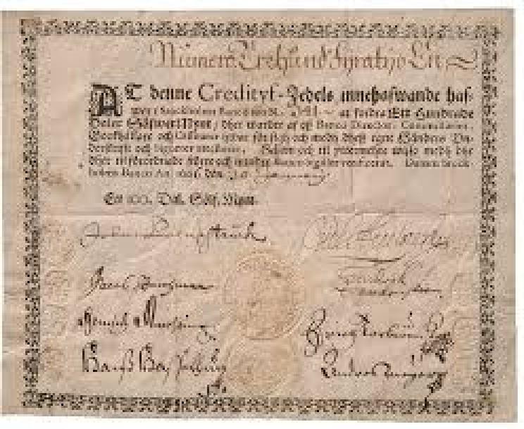 Swedish banknote 1661