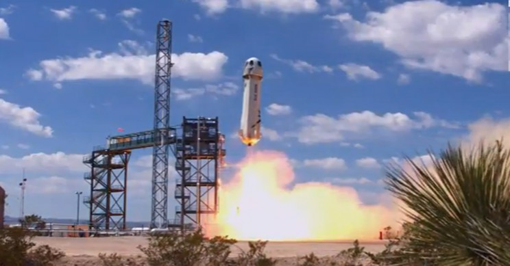 Blue Origin Launches its First Reusable Space Tourism Rocket