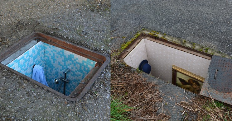 Secret Rooms Built into Abandoned Manholes