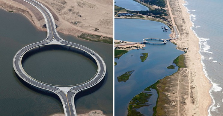 Circular Bridge Built to Slow Down Drivers