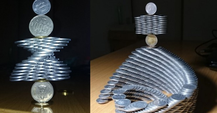 Look at these Coin Sculptures Defying the Laws of Gravity