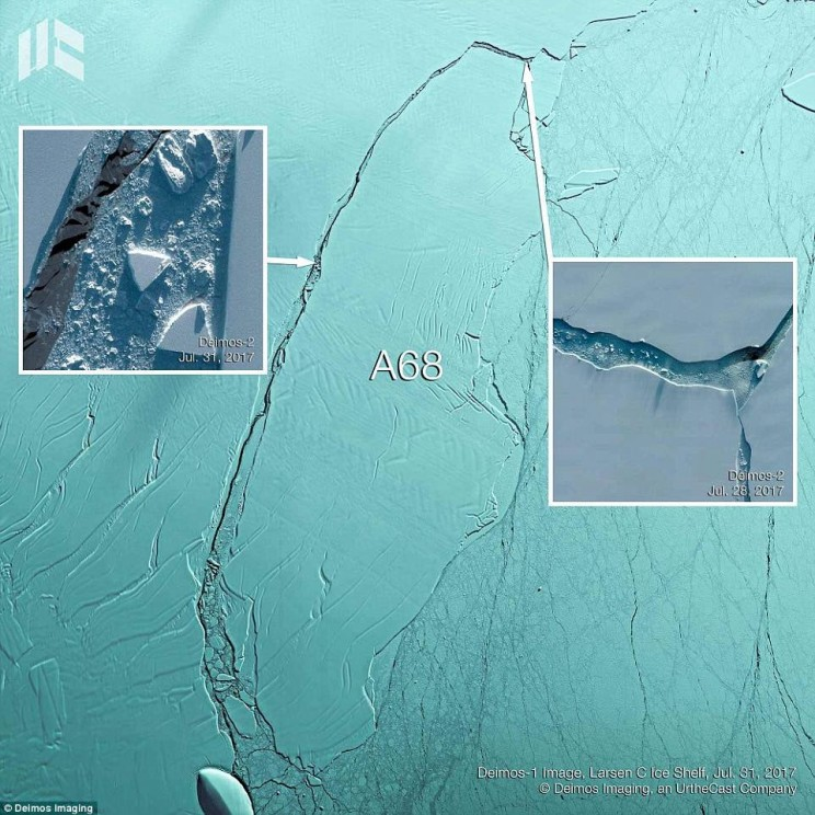 Iceberg Four Times the Size of Greater London Is Drifting Out to Sea from Antarctica