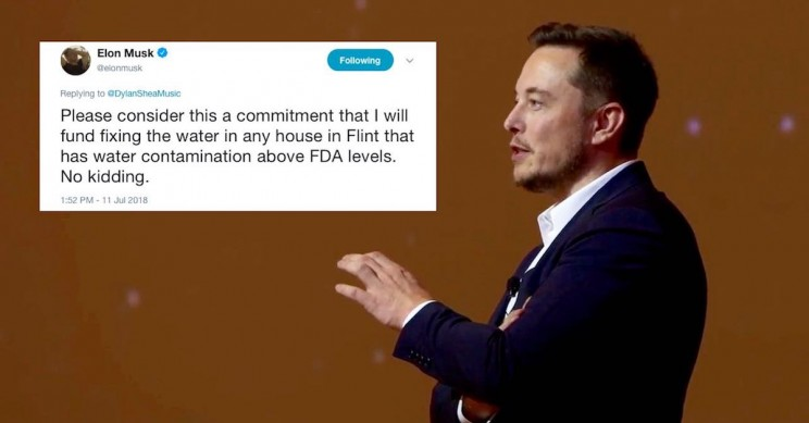 Elon Musk Has Promised to Fix Flint's Water Crisis via Twitter