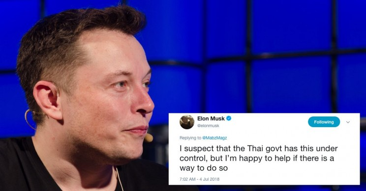 Elon Musk Offers to Help Soccer Team Stuck in Cave in Thailand