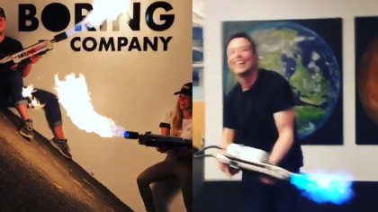 Elon Musk Just Shared Exciting Videos of the Boring Company's Flamethrower