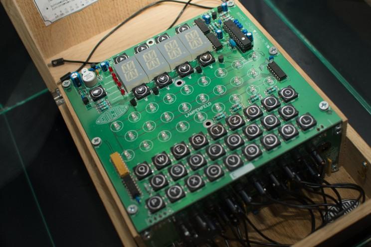 enigma machine at Spy Museum Tampere ©photo by Emiliano Verrocchio