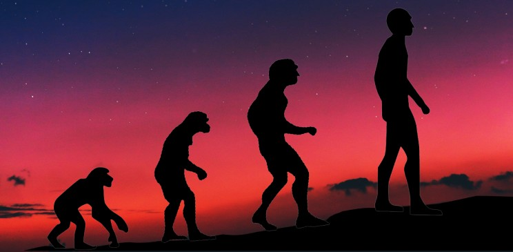 ancient theories of evolution man