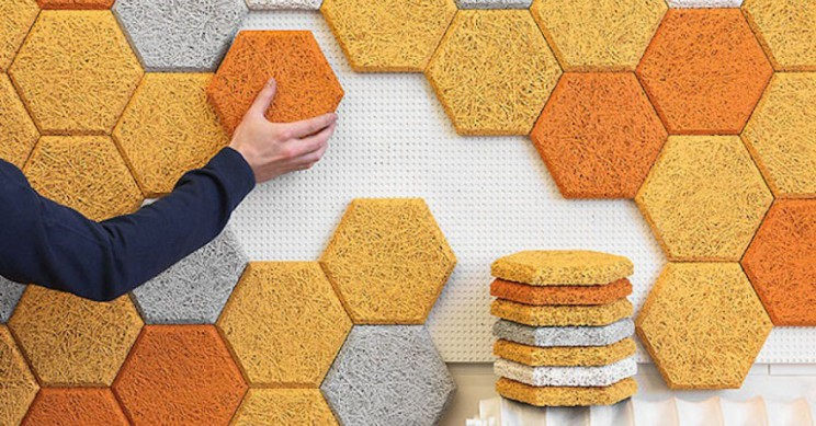 Hexagonal Wall Patterns Create Quick Sound Insulation