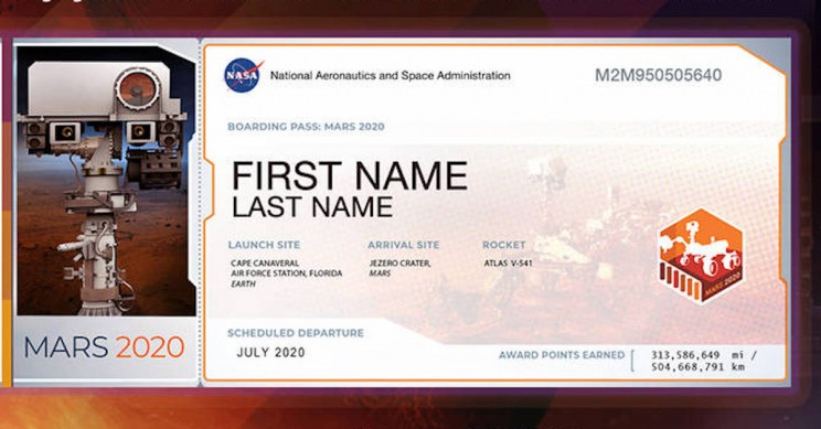 NASA Invites You to Send Your Name to Mars
