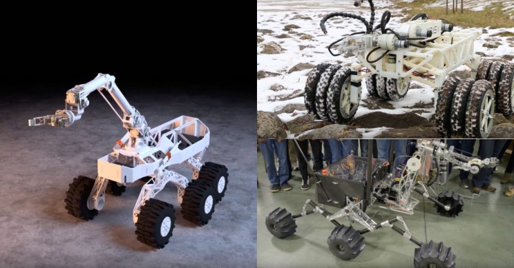 Engineering Future Mars Rovers: Top 3 Rovers from the University Rover Challenge 2018