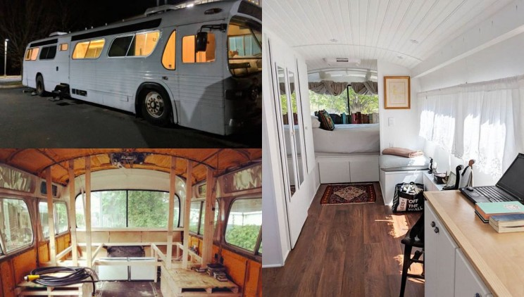 It Took 3 Years to Convert an Old Greyhound Bus into This Stunning Mobile Home