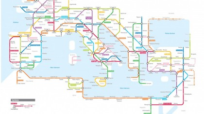 This Imaginary Subway Map Features Ancient Roman Roads