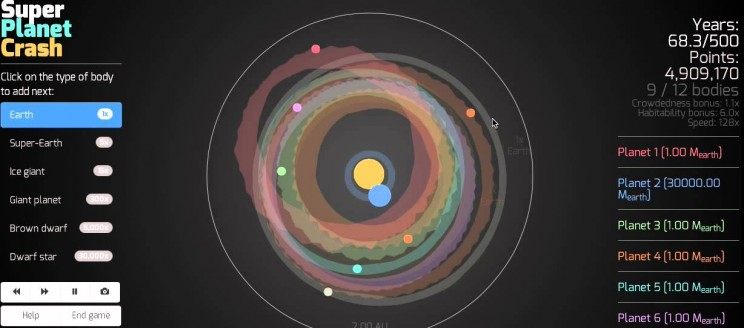 physics games planet crash