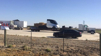 This Photo Shows Tesla's Anticipated Semi Truck out for a Road Test