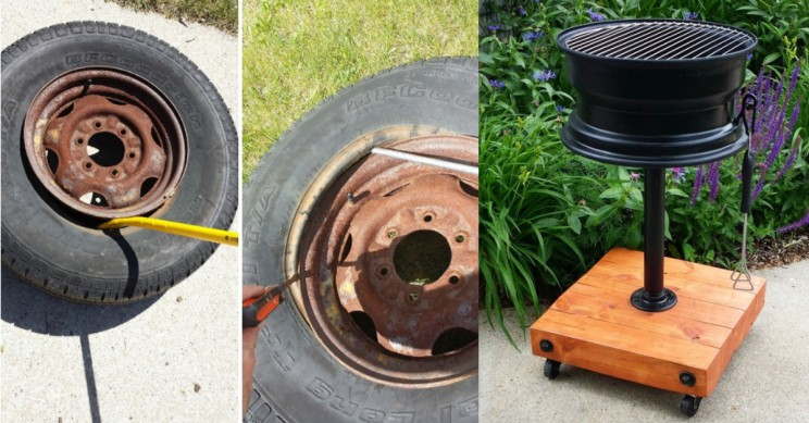 How to Create a Grill from an Old Tire Rim