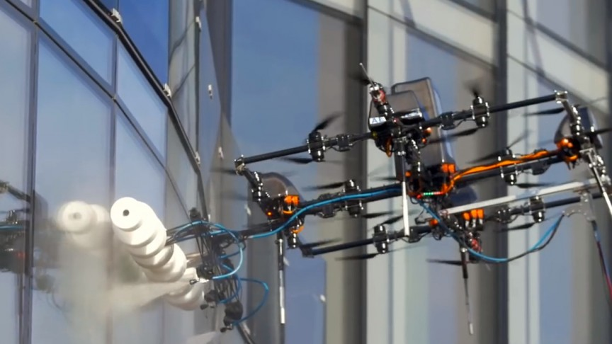 These Window Cleaning Drones Make Cleaning Skyscrapers