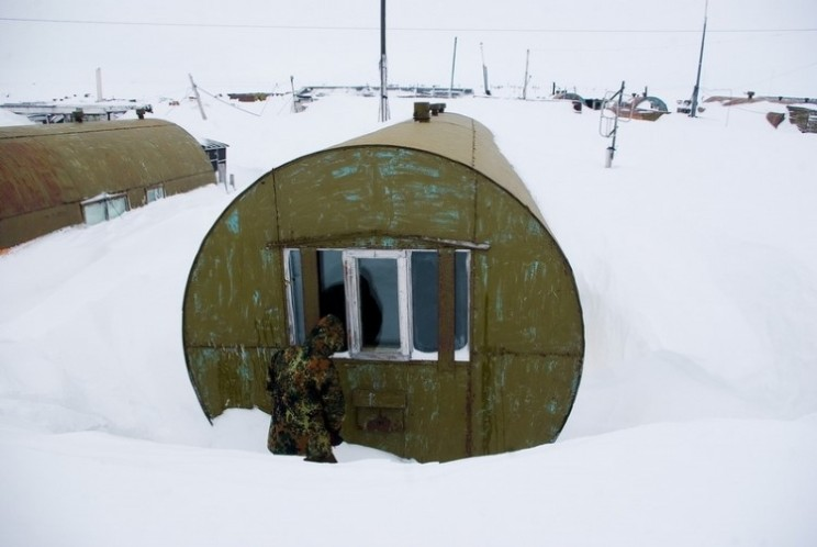 The metal barrel homes of the Polar Circle
