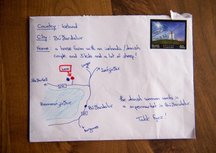 A Letter with a Drawn Map on it Instead of the Address Gets Delivered!