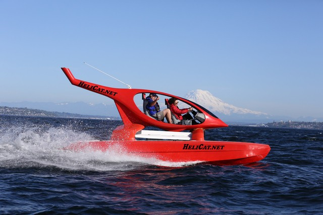 Helicat: Fast and fun rough water tackling catamaran