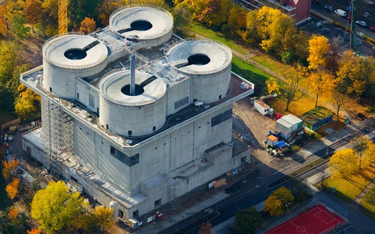 Unusual Bunker Transformation - The Energy Bunker in Hamburg