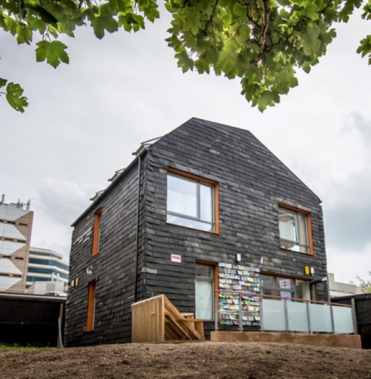Students build Brighton Waste House from 20,000 toothbrushes and other waste