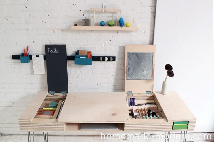 Turn a sheet of plywood into a multi-utility desk