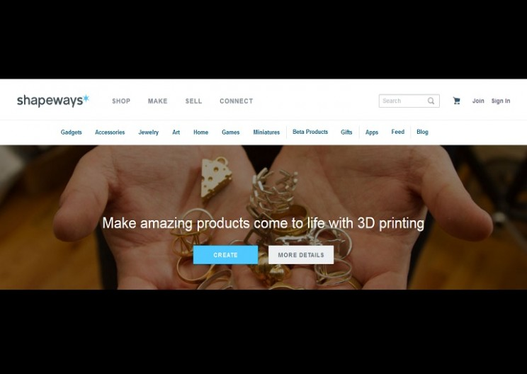 At Shapeways you design it, they 3D print it, you sell it