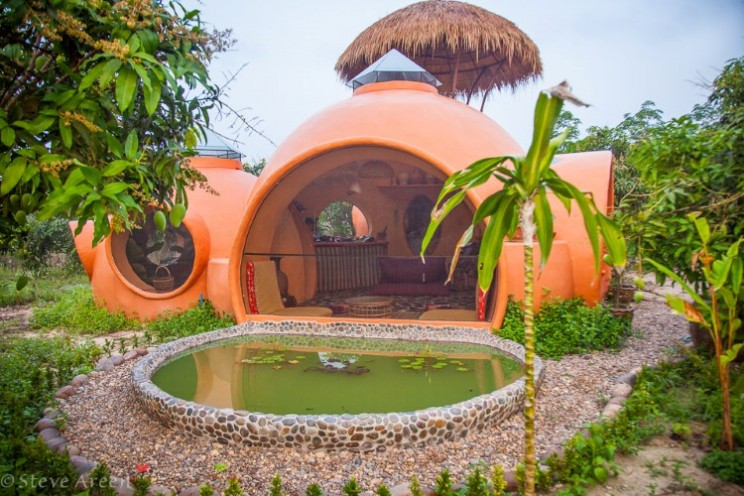 Quirky round home built on mango farm for $9,000