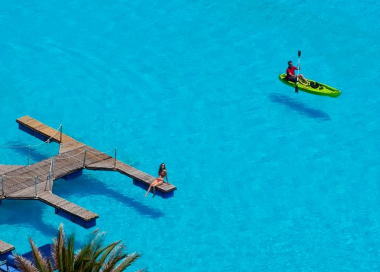 Take a dip in the world's largest seawater swimming pool lagoon