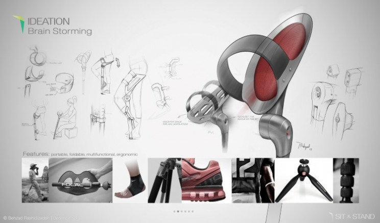 A crutch for the 21st century, the Sit & Stand walking assistant