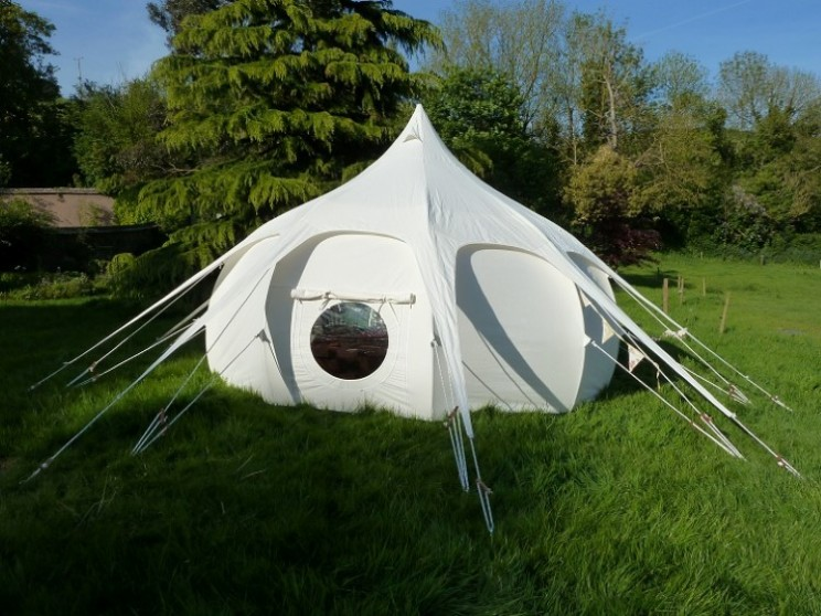 Lotus Belle tents offer a luxury camping option