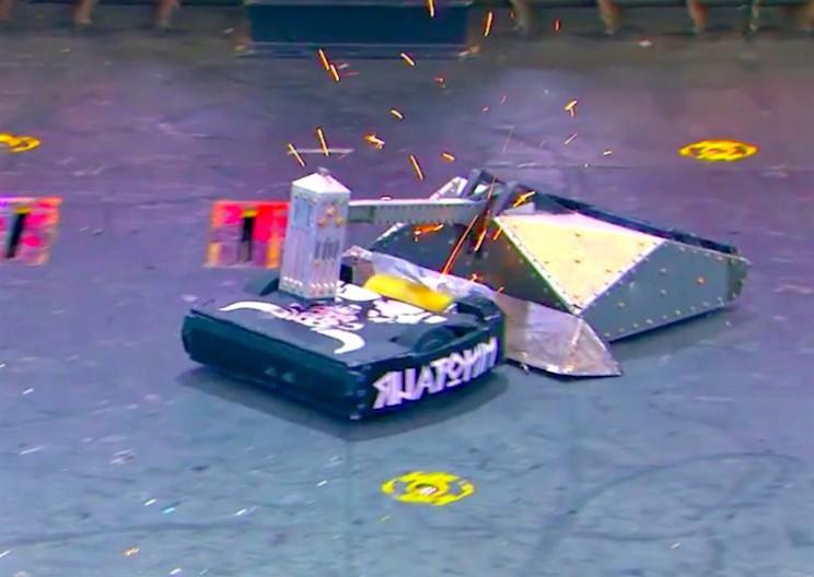 Epic BattleBots Battle Ends with Robot Bursting into Flames