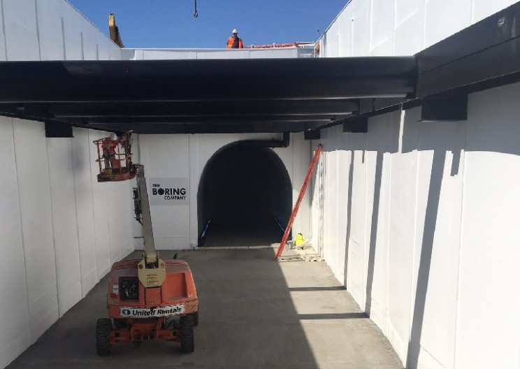 Elon Musk Says His Boring Tunnel's First Car Elevator Is Almost Ready to Operate