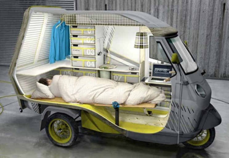 Is it a Vespa or is it a camper van?