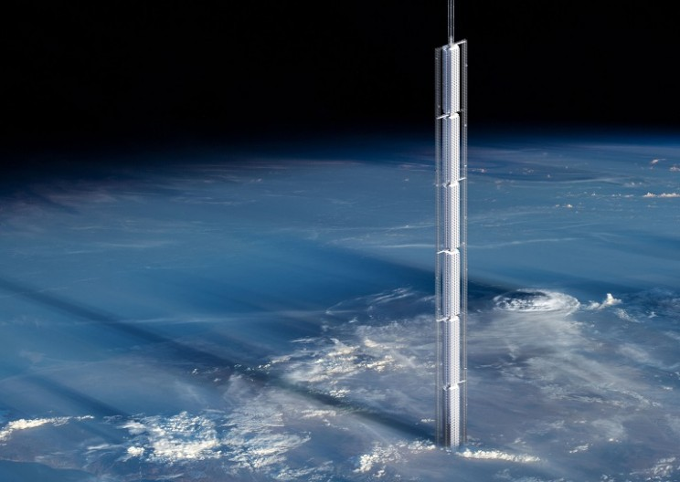 Architects Design a Crazy Skyscraper That Would Hang From an Asteroid