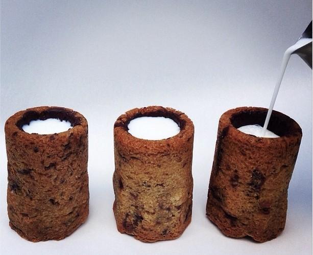 Milk shot in a Cookie Glass