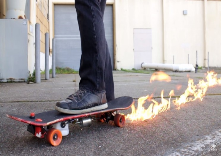 Build Your Own Flamethrower Skateboard With These Simple Instructions