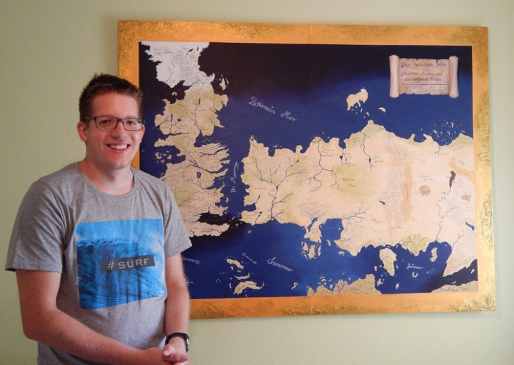 Talented Girl Drew Amazing Game of Thrones Map for her Brother