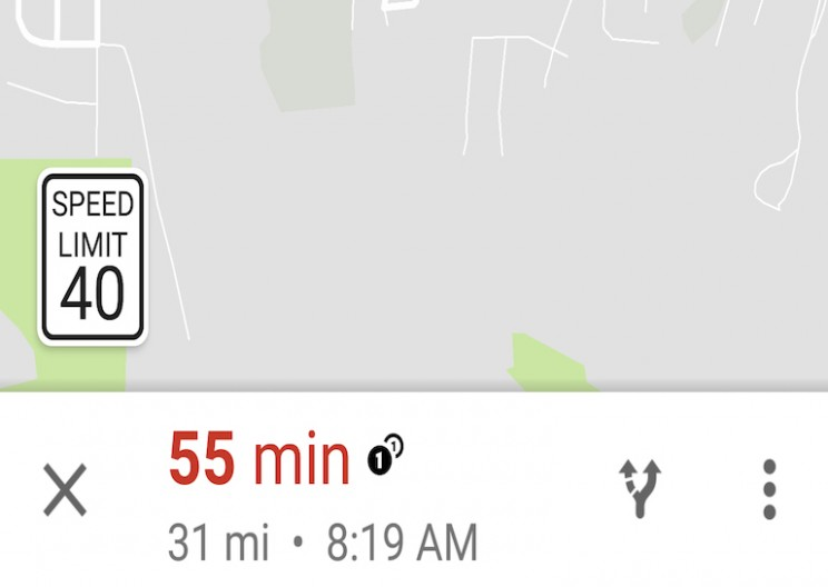 Google Maps Started to Show Speed Limits in Navigation Mode