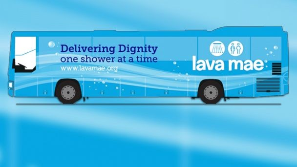 Lava Mae: Buses converted into showers on wheels for homeless people