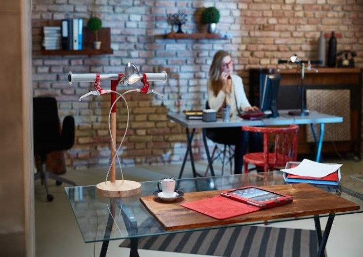 Beautiful Lamp Inspired by Bicycles