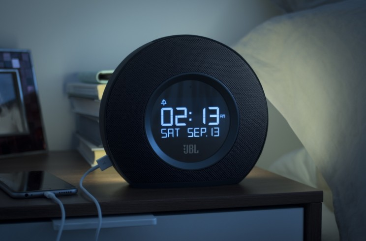 JBL Horizon Clock wakes you gently with ambient light and music