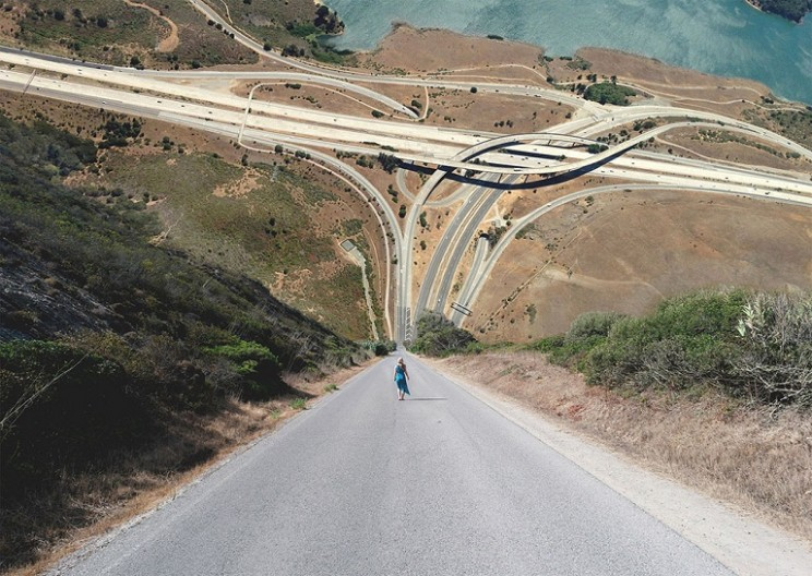 Laurent Rosset Turns Landscapes into Surreal Waves