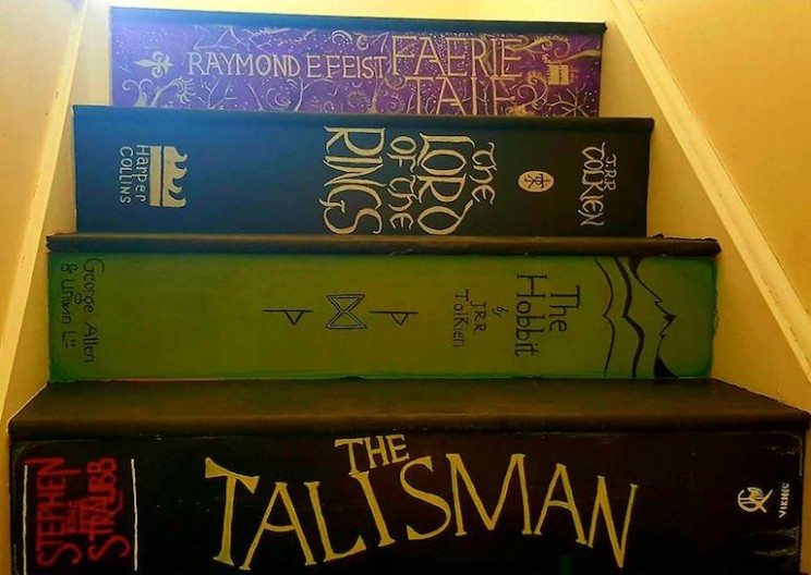 Mom Paints Staircase to Look Like Books They Love