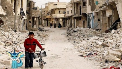 Artist is Using Pokemon to Expose the Harsh Reality of the Syrian War Zone