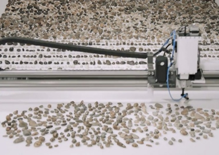 Machine Beautifully Arranges Rocks by Age and Type